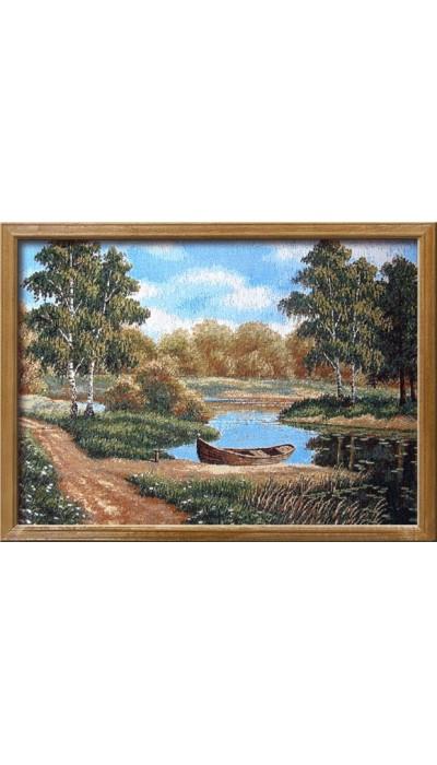 "Картина ""Заводь"" (гобелен).Размер:53х77 см"