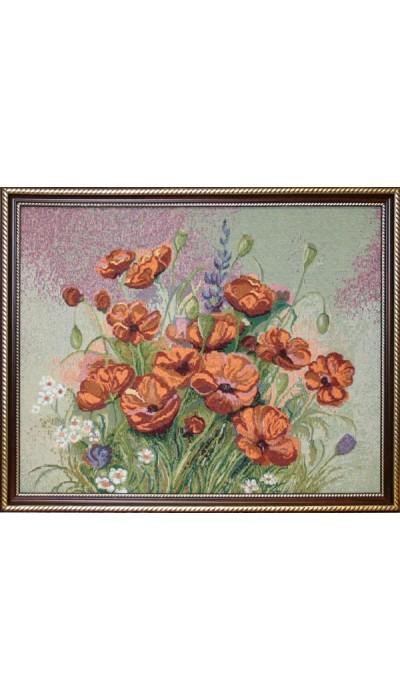 """Картина """"Маковый цвет"""" (гобелен).Размер:40х50 см"""