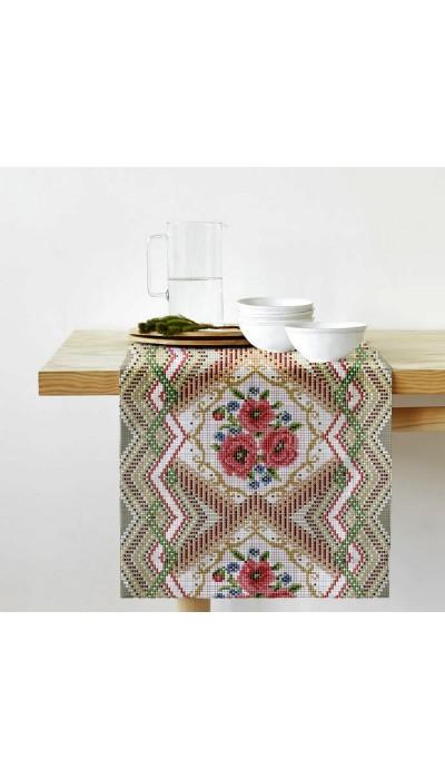 "Дорожка на стол ""Цветочная мозаика"""