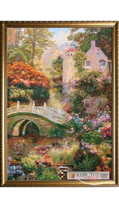 "Картина ""Таинственный пруд"" (гобелен).Размер: 51х72 см"