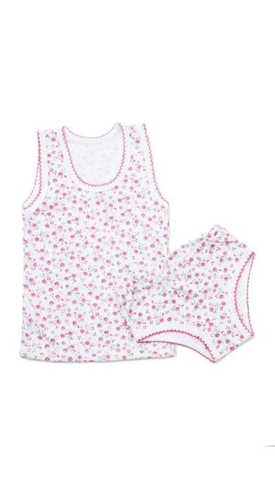 Комплект нижнего белья для девочки цветной трикотаж