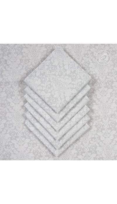 """Столовый набор """"Вензель"""":скатерть +6 салф. рогожка"""