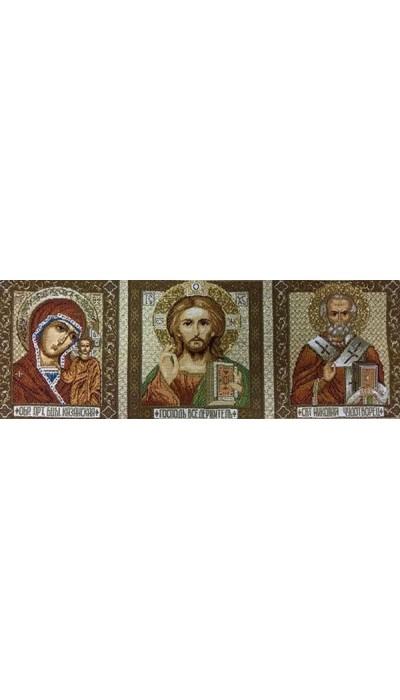 """Икона 14х35 гобелен """"Триптих"""""""