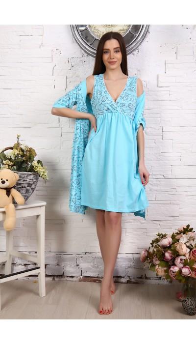 Комплект для беременных 31001 голубой