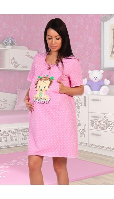 Сорочка Мама розовый